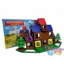 "Магнитный конструктор Magic Magnetic ""Log House Set"" 66 дет"