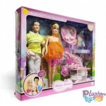 "Куклы Типа Барби Семья Defa ""Happy Family"" 8088"