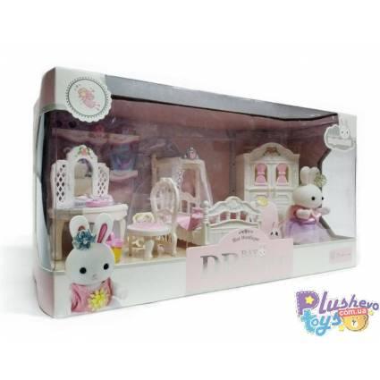 Мебель Для Фигурок Yasini 6616 Bedroom Спальня С Зайкой