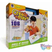 Мозаика Create And Play 661-322 С Шуруповёртом В Чемодане
