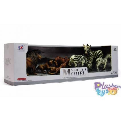 Игровые фигурки Zhong Jleming Львы и зебры Q9899-D8