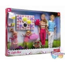 Набор кукол Defa Lucy Семья на пикнике 8301