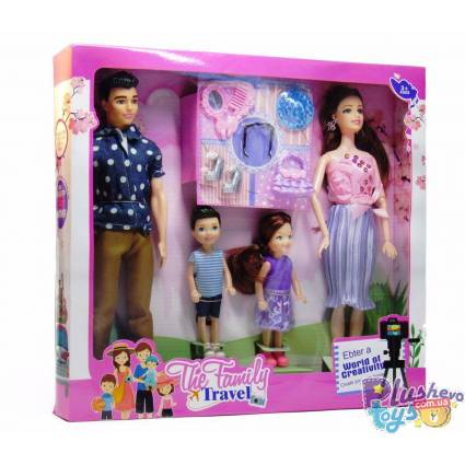 Набор кукол The Family Travel Семья LY125