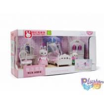Дитяча кімната для кроликів Pink Rabbit Family 777-9